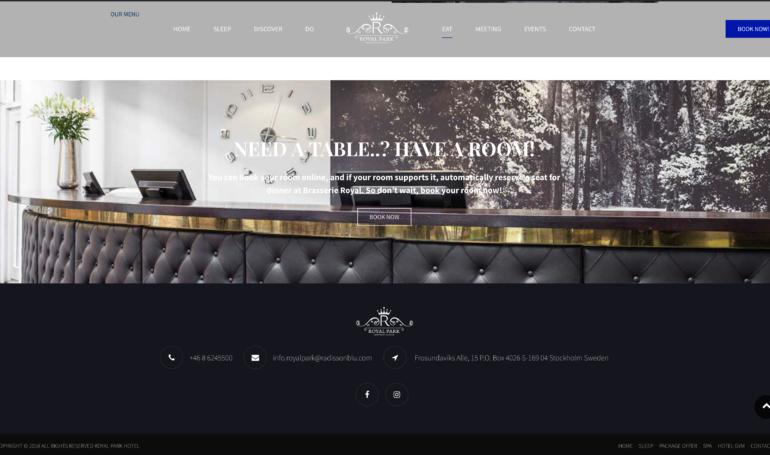 Royal Park -Ny hemsida