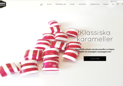 Sverigekaramellen ny hemsida Dandified